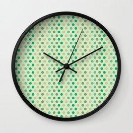 Lizette dots green Wall Clock