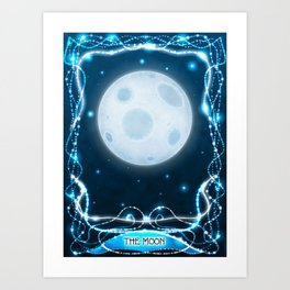 """The Moon"" Tarot Card Art Print"