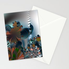 Follow me! -- Creatures in a fractal landscape Stationery Cards