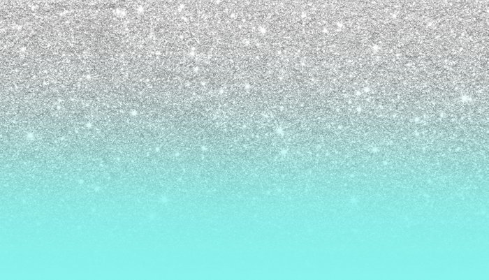 Modern girly faux silver glitter ombre teal ocean color bock Pillow Sham