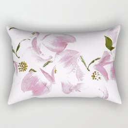 Dogwood Tree Flowers-pink Rectangular Pillow