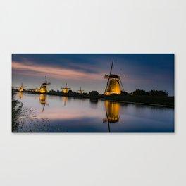 Dutch Wind Mills Canvas Print