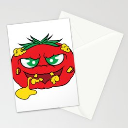 """""""Toxic tomato"""" tee design. Creepy and freaky shirt perfect to mock your friends this holiday!  Stationery Cards"""