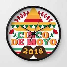 Cinco De Mayo 2018 Celebration Party Wall Clock