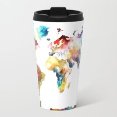 World map Travel Mug