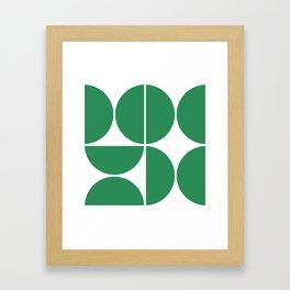 Mid Century Modern Green Square Framed Art Print