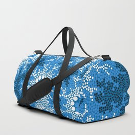 Authentic Aboriginal Art - Waterhole Dreaming Duffle Bag