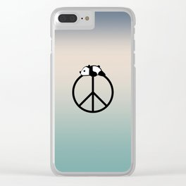Peace and panda Clear iPhone Case