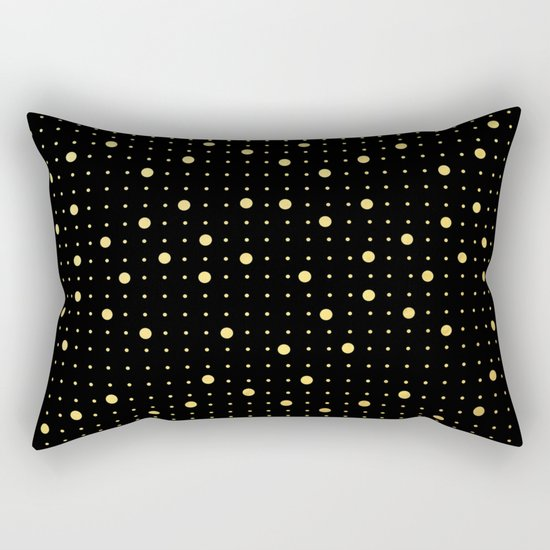Pin Points Gold Rectangular Pillow