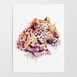 Leopard Head Poster