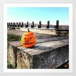 Long Dock Beacon NY - Lost Pumpkin Art Print