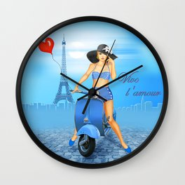 Vive l'amour Wall Clock