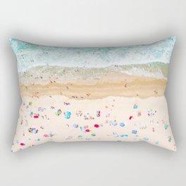 Drone shot of Manhattan beach Rectangular Pillow