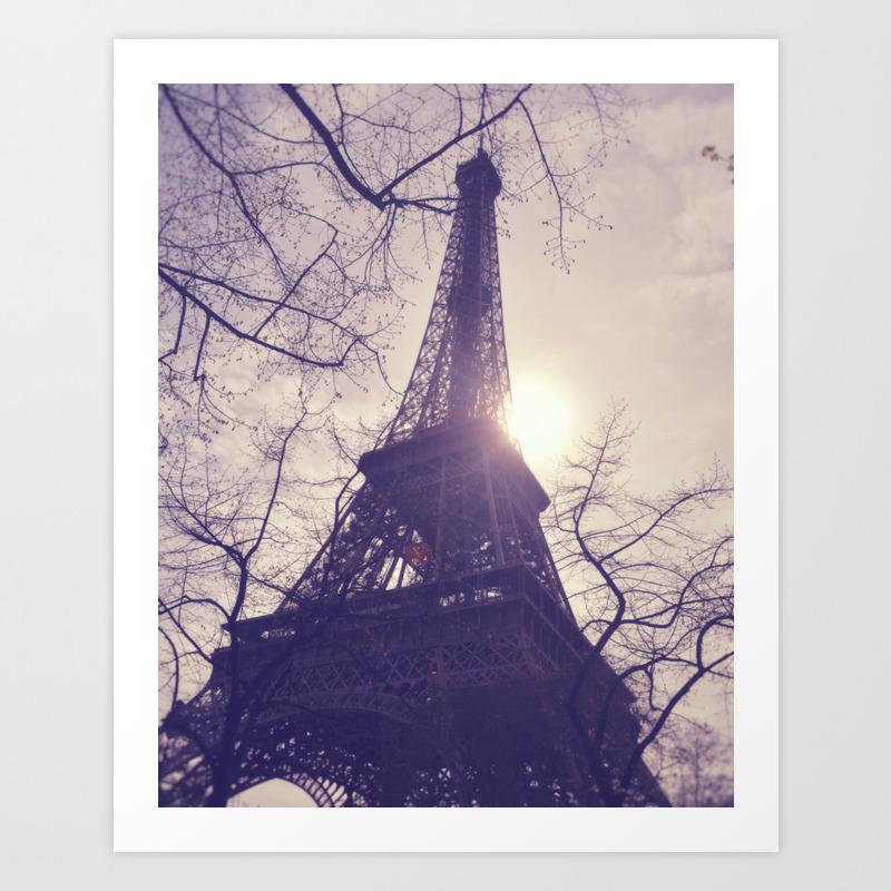 La Ville De L Amour Paris France Art Print By Ampedde Society6