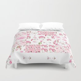 Shabby Chic Dream Catcher and feather Patchwork Duvet Cover