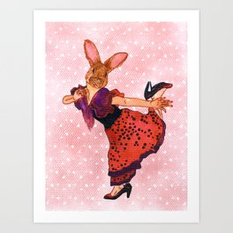 little tango bunny Art Print