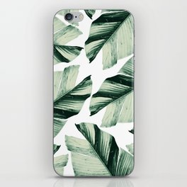 Tropical Banana Leaves Vibes #1 #foliage #decor #art #society6 iPhone Skin