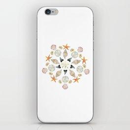 Florida Beachcombing Mandala 1 - Watercolor iPhone Skin