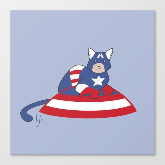 Captain AmeriCAT: The First Catvenger Canvas Print