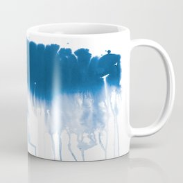 Paint 1 - indigo blue drip abstract painting modern minimal trendy home decor dorm college art Coffee Mug