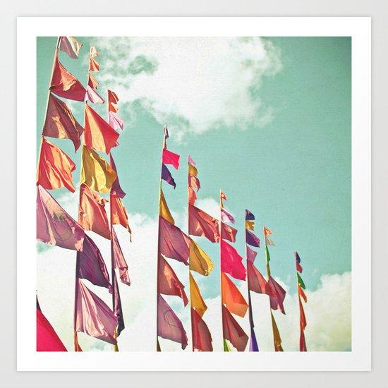 Flags Art Print