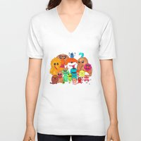 muppet V-neck T-shirts featuring Muppet Doodle Jam! by Orangeblowfish