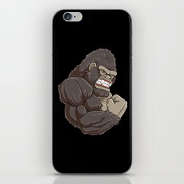 Gorilla At The Gym   Fitness Training Muscles iPhone Skin