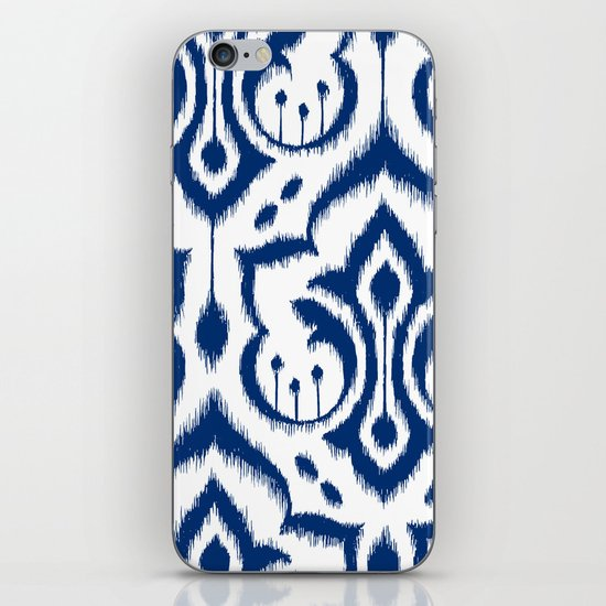 Ikat Damask Navy iPhone & iPod Skin