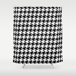 cats-tooth in black and white (houndstooth pattern) Shower Curtain