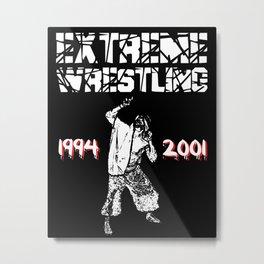Extreme Wrestling Metal Print