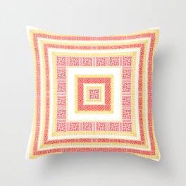 Slavic Square Mandala - Odolen Trava - Symbol Throw Pillow