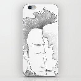 Big-haired Smoker #1 iPhone Skin