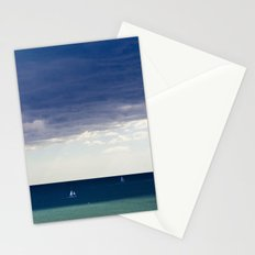 Sailing in the blue Stationery Cards