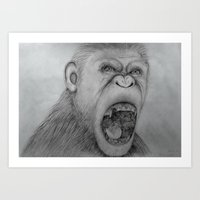 Planet of the Apes Pencil Drawing Art Print