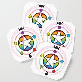 LGBT Elemental Pentagram Coaster