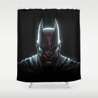 bat man Shower Curtains featuring BAT MAN - bat man by Raisya