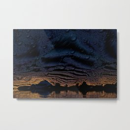 Metalized Arizona Mountains with Water Effect Metal Print