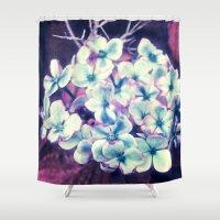 hydrangea Shower Curtains featuring Hydrangea by J's Corner