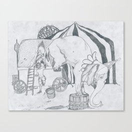 Elephant Taming Canvas Print