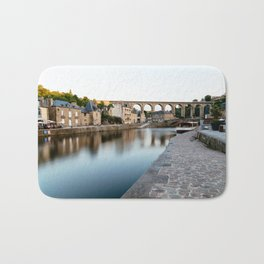 The Habour of  Dinan in France Bath Mat
