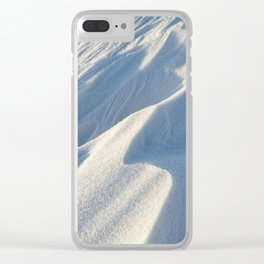 Snowdrifts, a field in winter Clear iPhone Case