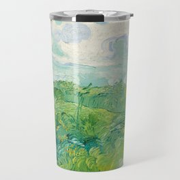 Green Wheat Fields, Auvers by Vincent van Gogh, 1890 Travel Mug