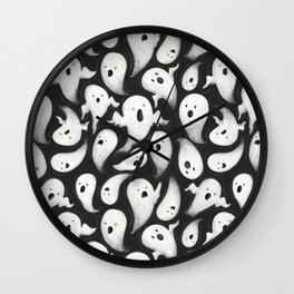 Ghost Party- Halloween Illustration Wall Clock