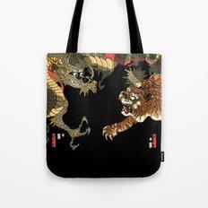 Sadahide's Dragon And Tigers Tote Bag