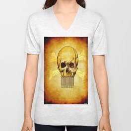 Skeleton bar codes Unisex V-Neck