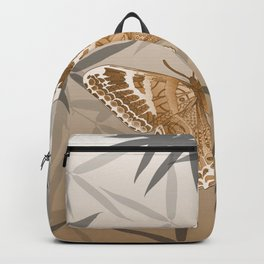 Beautiful Copper Butterfly Design Backpack