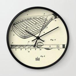 Construction of Tennis Rackets-1887 Wall Clock