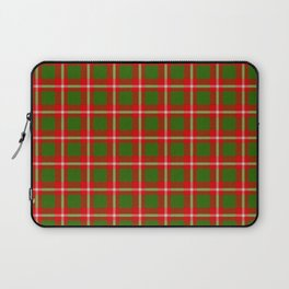 Tartan Style Green and Red Plaid Laptop Sleeve