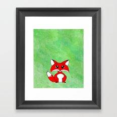 Foxy Green Framed Art Print