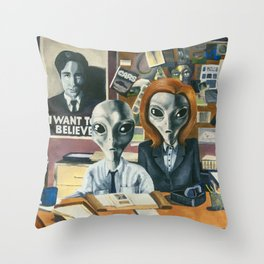 X-Files - Agent Grey Throw Pillow